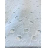 Coton brodé blanc - 396
