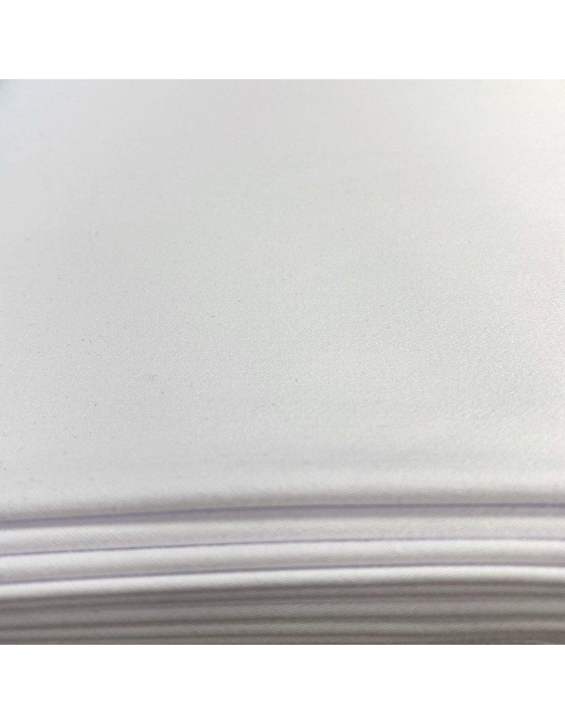 Satijnkatoen  Stretch  - wit - 1091