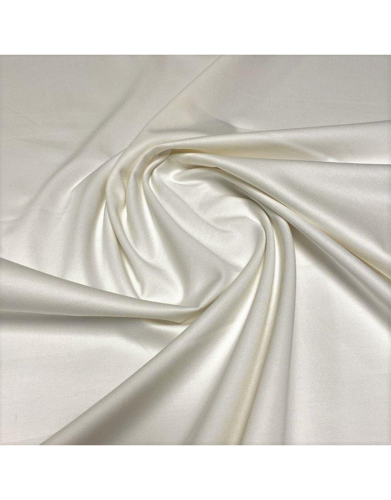 Satijnkatoen  Stretch 714 - gebroken wit