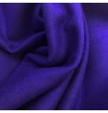 Wollen Mantel Stof KW02 - kobalt blauw