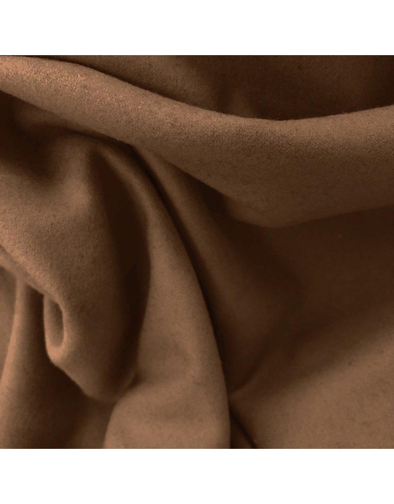 Wollen Mantel Stof KW08 - karamel