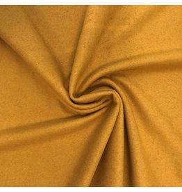 Tissu de manteau en laine KW09 - jaune ocre
