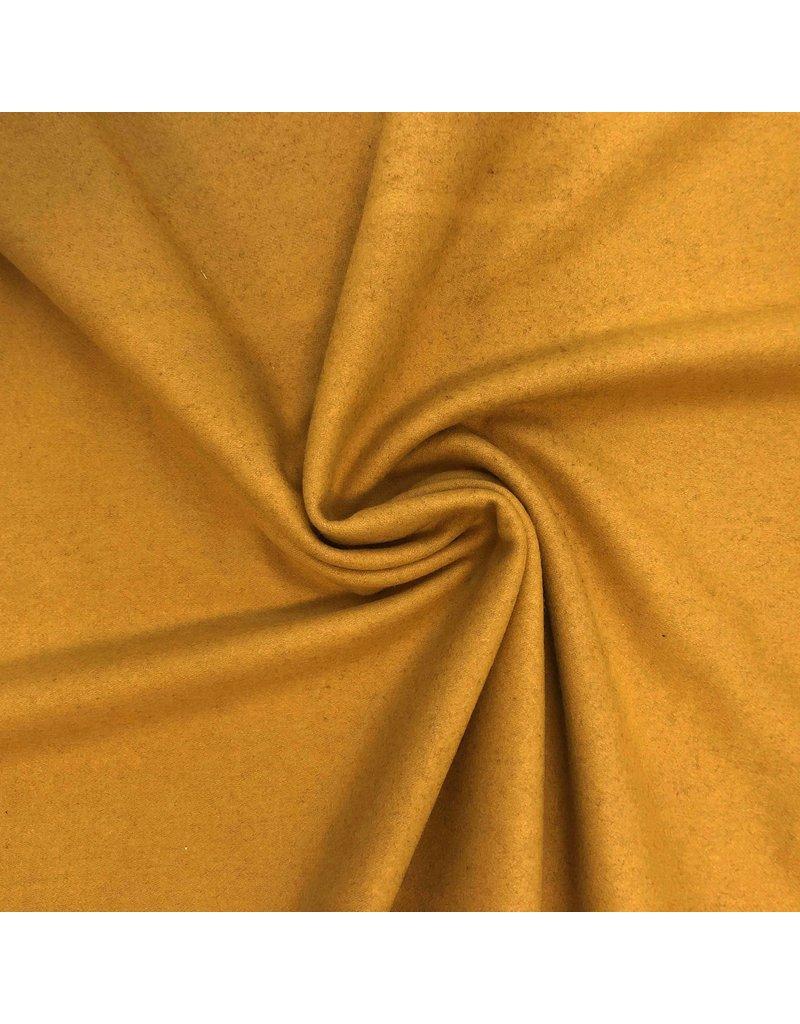 Wollen Mantel Stof KW09 - oker geel