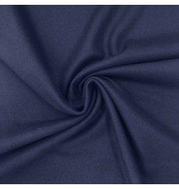 Wollen Mantel Stof KW11 - jeansblauw - MOUT