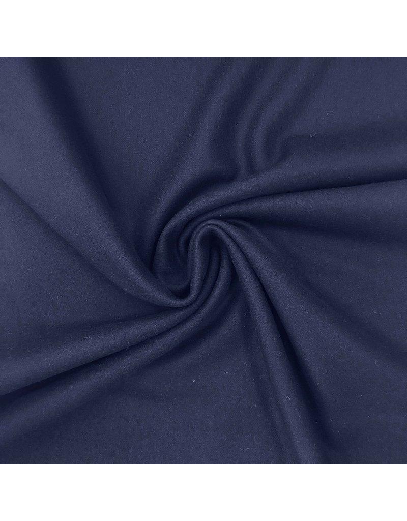 Wollen Mantel Stof KW11 - jeansblauw