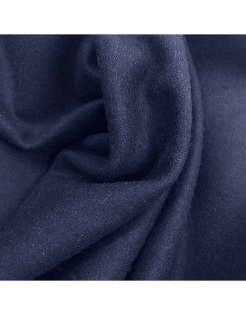 Wollmantel Stoff KW11 - Denim blau