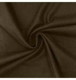 Wollen Mantel Stof KW14 - mosgroen