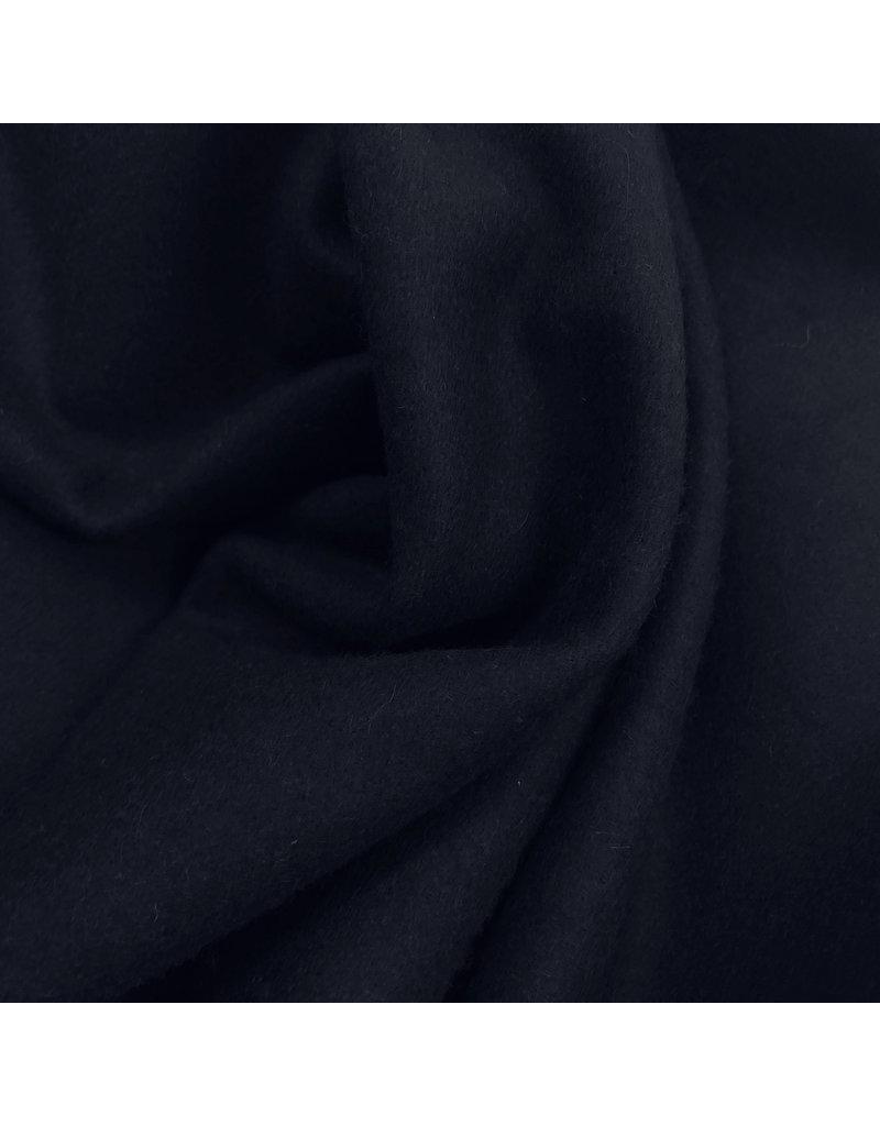 Wollen Mantel Stof KW16 - donker blauw