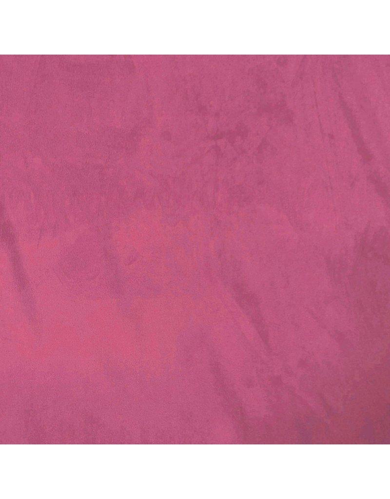 Suedine Stretch SU25 - donker fuchsia
