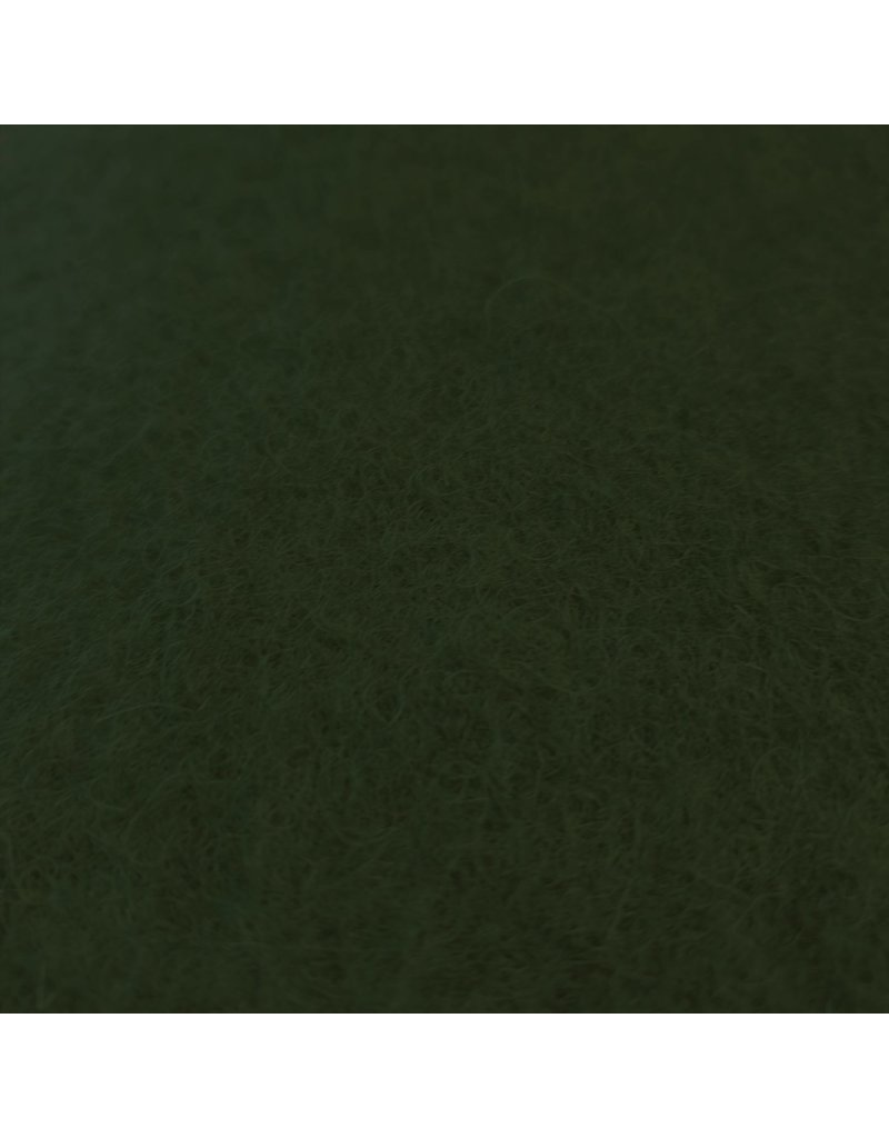 Gekookte Wol Uni CW03 - olijfgroen