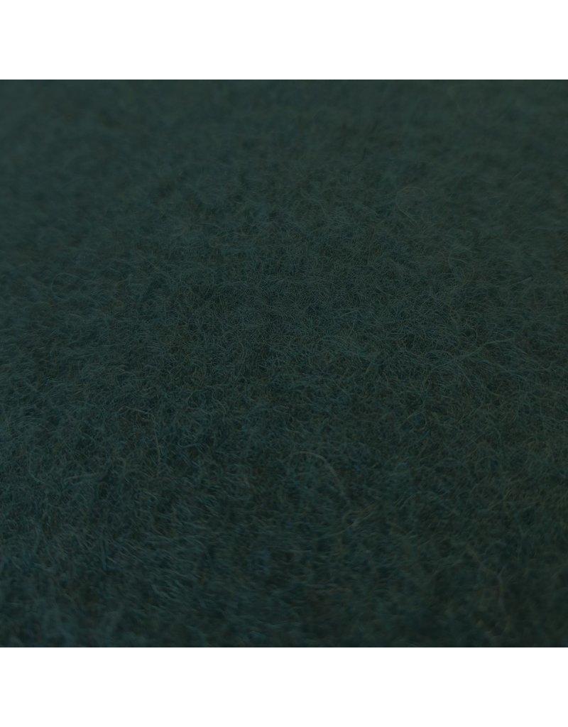 Gekookte Wol Uni CW05 - donker flessengroen