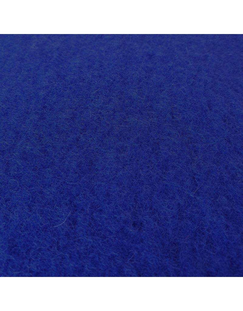 Gekookte Wol Uni CW06 - kobaltblauw