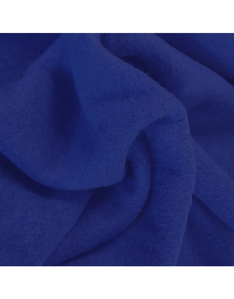 Gekochte Wolle Uni CW06 - Kobaltblau