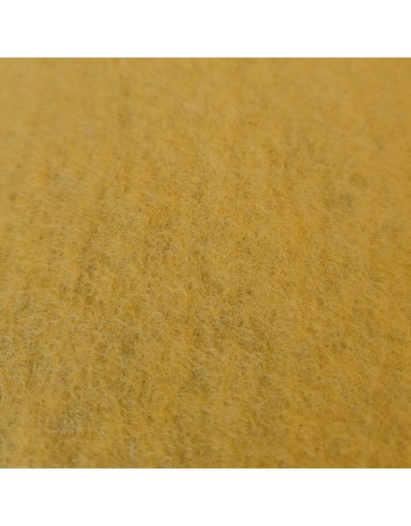 Gekochte Wolle Uni CW07 - Senfgelb