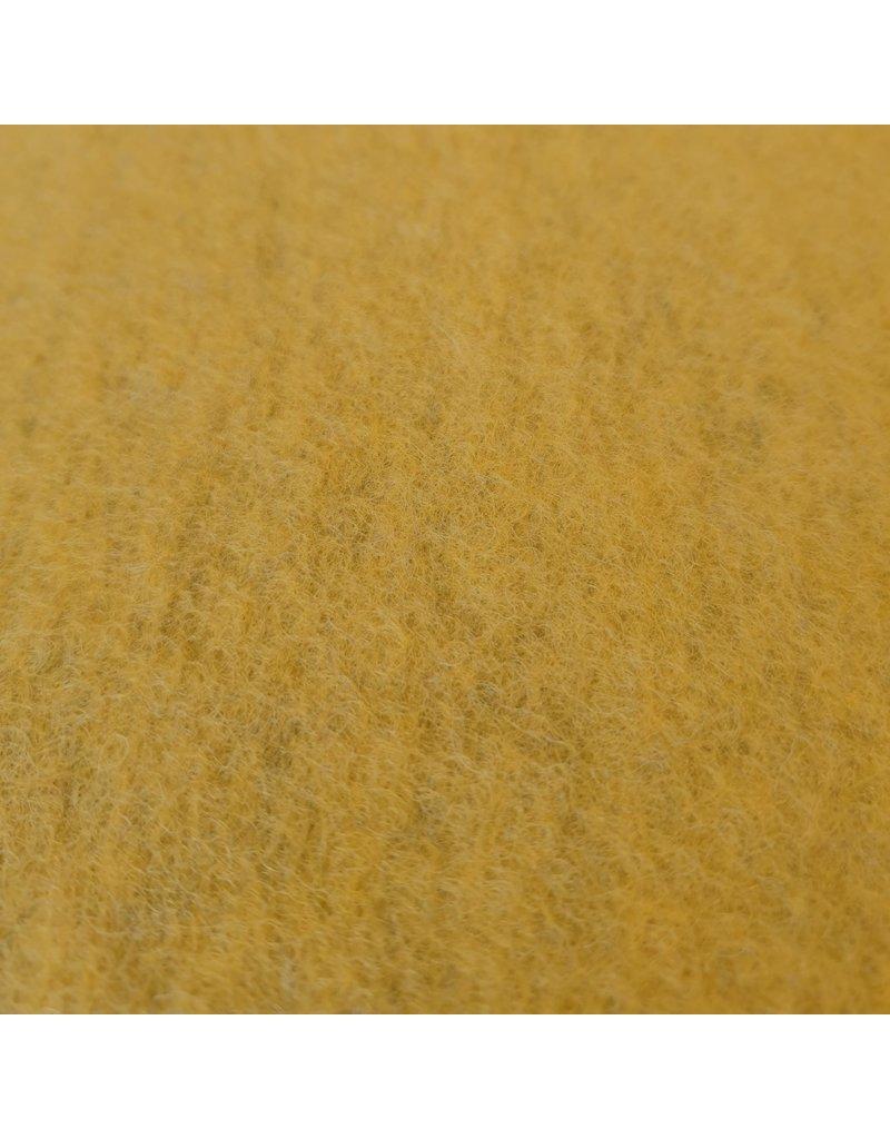 Gekookte Wol Uni CW07 - mosterdgeel