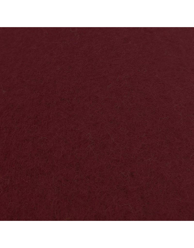 Gekookte Wol Uni CW14 - donkerrood