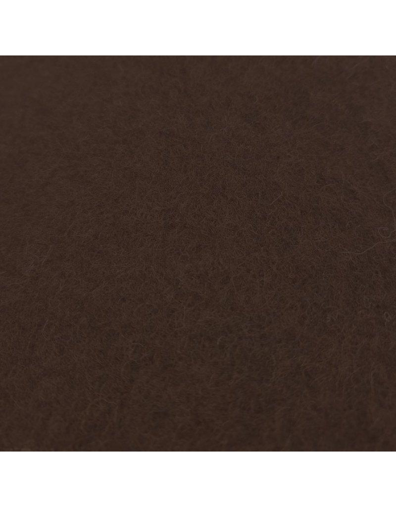 Gekochte Wolle Uni CW15 - dunkelbraun