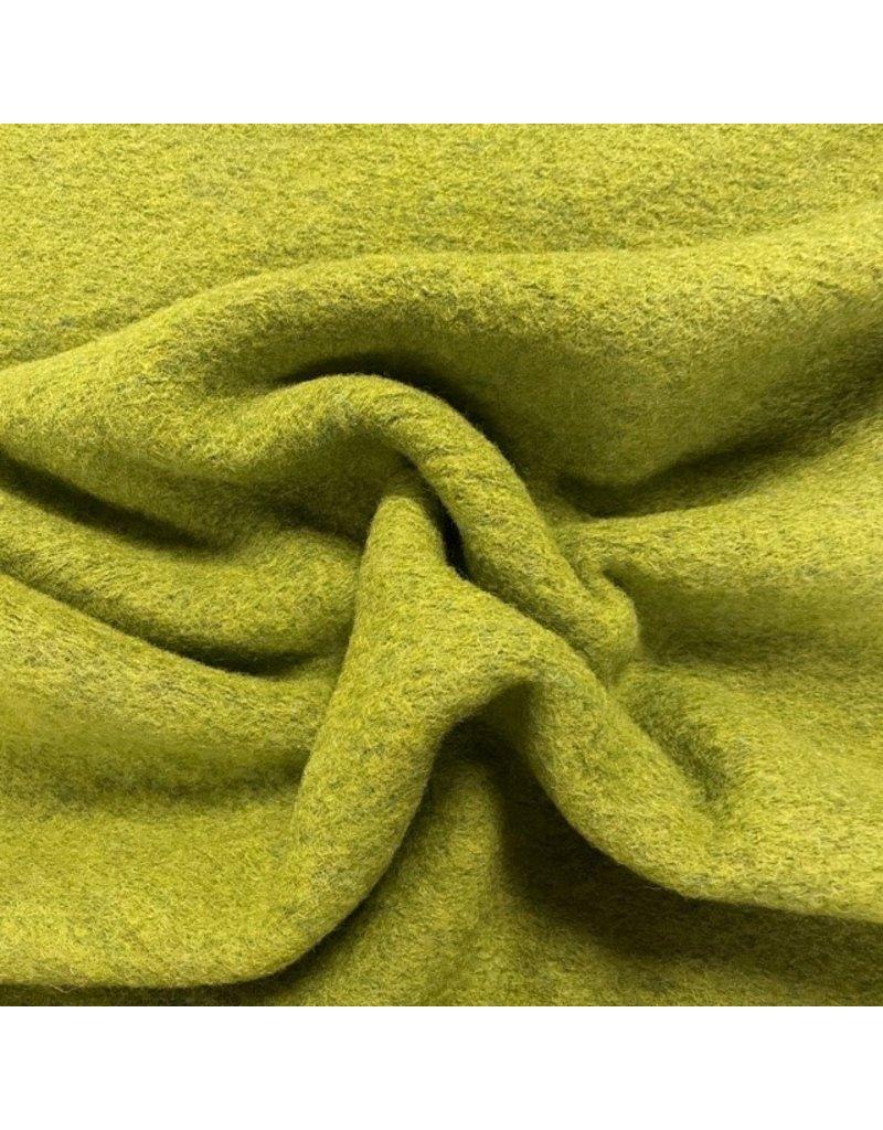 Gekochte Wolle Uni CW23 - Limonengrün