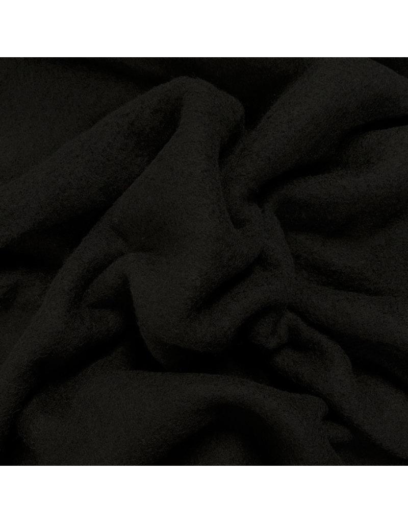 Gekookte Wol Uni CW24 - zwart