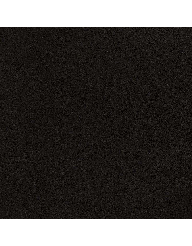 Gekochte Wolle Uni CW24 - schwarz