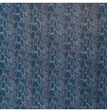 Imitatie Snake Leather SL01 - blauw / aqua