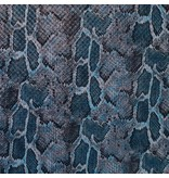 Imitation Snake Leather SL01 - blau / aqua