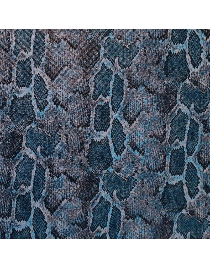 Similicuir Serpent SL01 - bleu / aqua