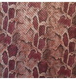 Imitatie Snake Leather SL02 - rood / roze