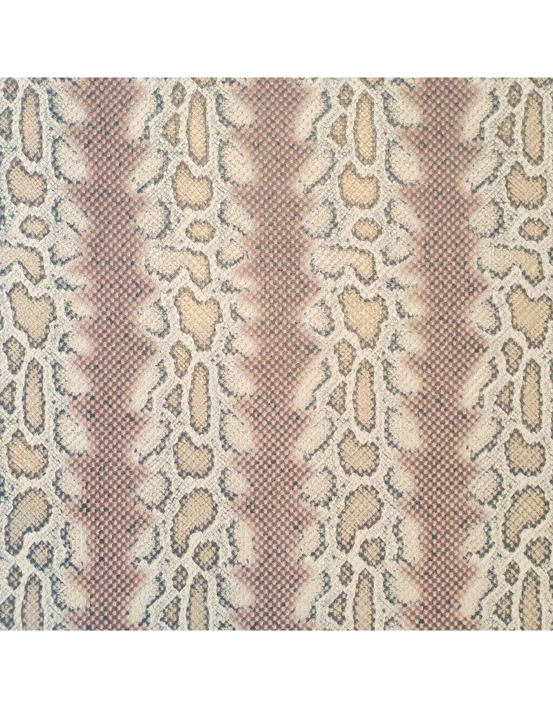 Imitation Snake Leather SL03 - braun / beige