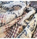 Imitatie Snake Leather SL03 - bruin / beige