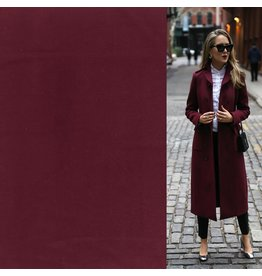 Wool Coat Fabric KW05 - burgundy