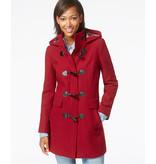 Wollen Mantel Stof KW04 - rood