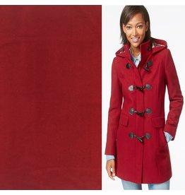 Tissu de manteau en laine KW04 - rouge