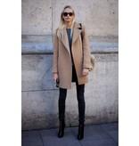 Wollen Mantel Stof KW06 - beige
