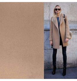 Wollen Mantel Stof KW06 - beige - MOUT