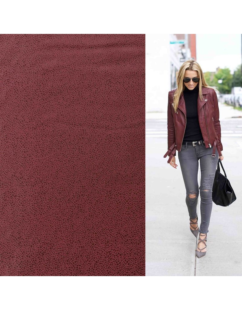 Imitation Leather IL12 - dark red