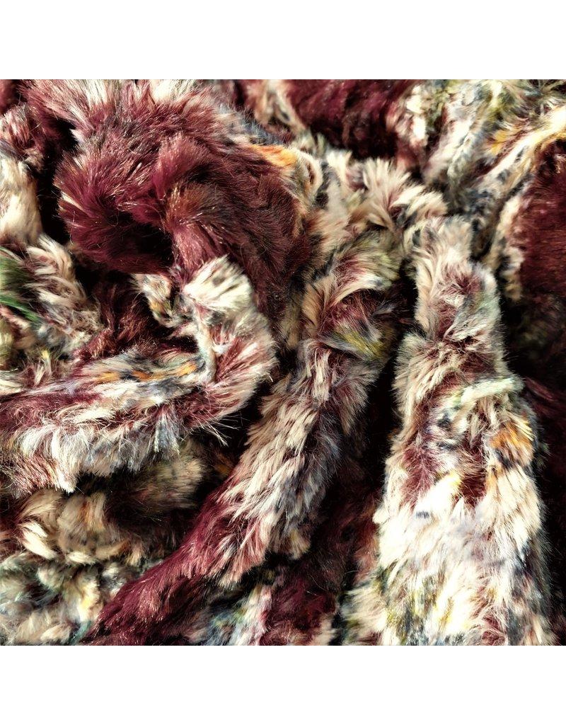Imitation Fur with print IB02