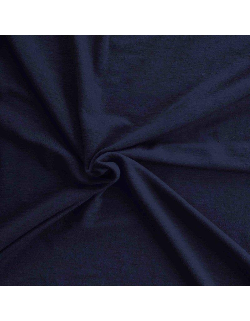 Wol Jersey JW03 - nachtblauw