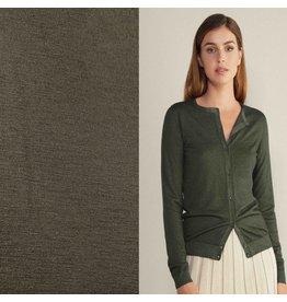 Jersey de laine JW04 - vert armée