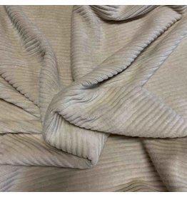 Velours côtelé tricoté CY02 - crème