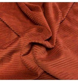 Velours côtelé tricoté CY03 - brique