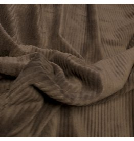 Velours côtelé tricoté CY04 - marron foncé