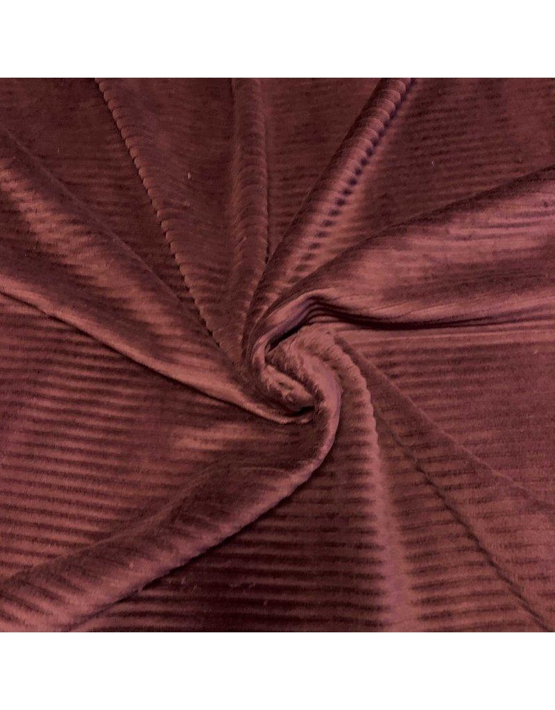 Knitted Corduroy CY06 - burgundy