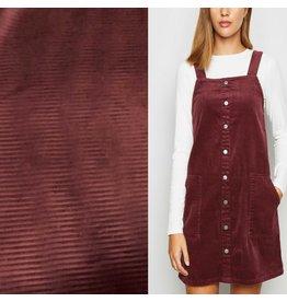 Velours côtelé tricoté CY06 - bordeaux