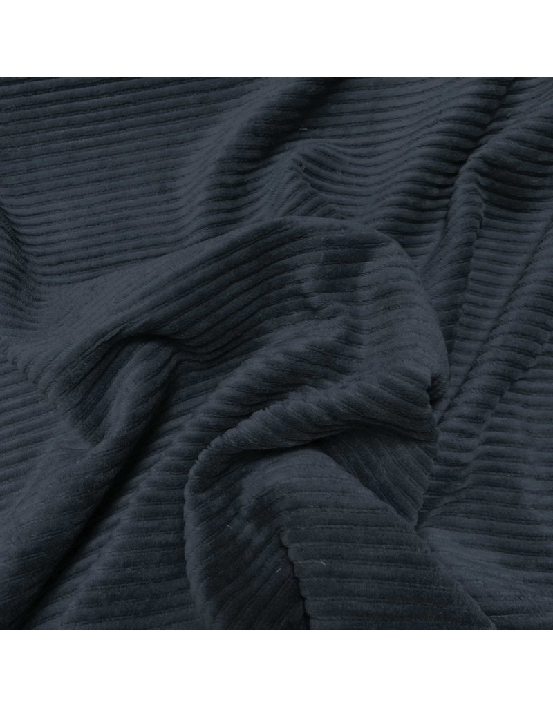 Knitted Corduroy CY07 - navy blue