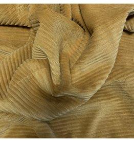 Velours côtelé tricoté CY09 - jaune miel
