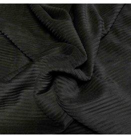 Velours côtelé tricoté CY10 - noir
