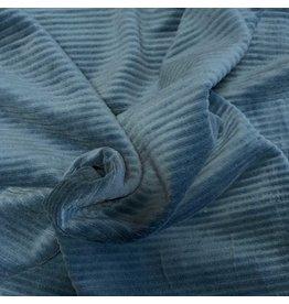 Velours côtelé tricoté CY11- bleu marine