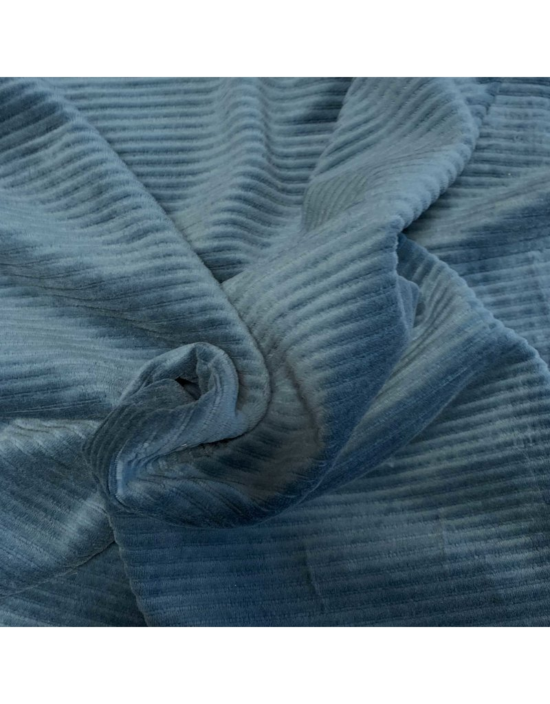 Knitted Corduroy CY11- sea blue