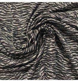 Jacquard Trikot 2653 grau - schwarz